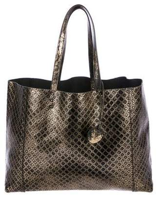 Bottega Veneta Metallic Leather Tote