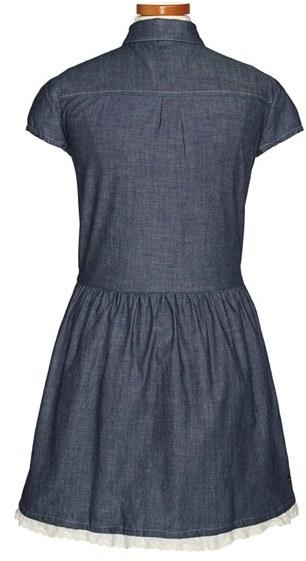 Tea Collection 'Lieselotte' Chambray Dress (Little Girls & Big Girls)