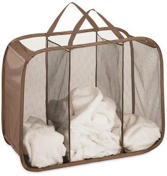 Whitmor Mesh Hamper, Pop and Fold Laundry Triple Sorter