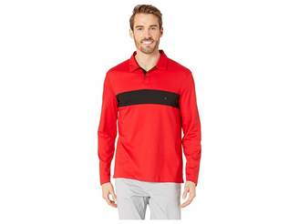 Calvin Klein Long Sleeve Color Blocked Rugby Polo