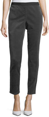 Eileen Fisher Slim Stretch-Corduroy Leggings