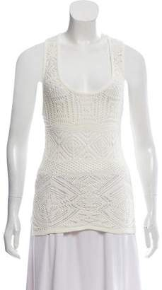 Emilio Pucci Sleeveless Open Knit Top