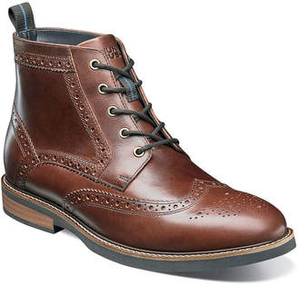 Nunn Bush Mens Odel Dress Boots Flat Heel Lace-up