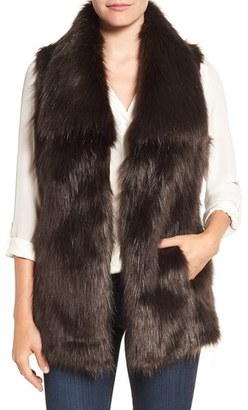 Women's Via Spiga Faux Fur Vest $198 thestylecure.com