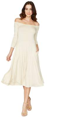 Rachel Pally LONG SLEEVE LOVELY DRESS - CREAM