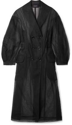 Simone Rocha Tulle Trench Coat - Black
