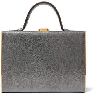 Mark Cross Rear Window Evening Metallic Textured-leather Tote - Silver