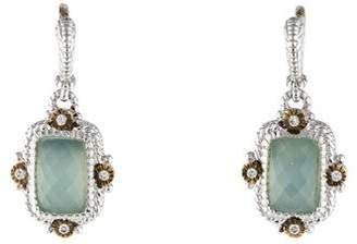 Judith Ripka Two-Tone Doublet Drop Earrings