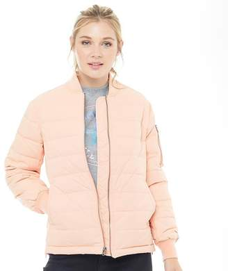 Converse Womens Oversized MA-1 Down Bomber Jacket Pink/Silver