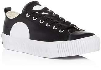 McQ Men's Plimsoll Leather Lace Up Platform Sneakers