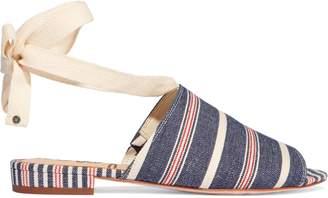 Sam Edelman Tai Striped Denim Sandals