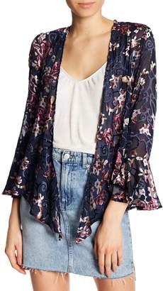 Dress Forum Velvet And Mesh Floral Jacket