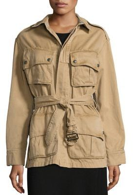 Polo Ralph Lauren Pima Cotton Twill Military Jacket $398 thestylecure.com