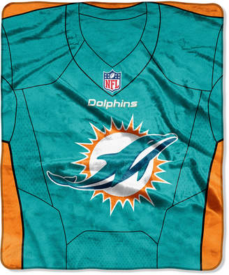 Northwest Company Miami Dolphins Jersey Plush Raschel Throw