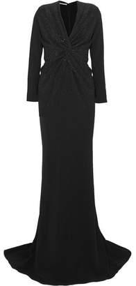 Stella McCartney Crystal-embellished Cady Gown - Black