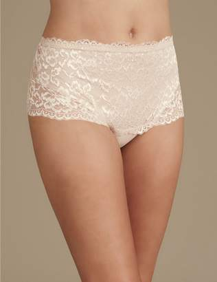 Marks and Spencer All Over Lace Light Control Secret Slimming Thong