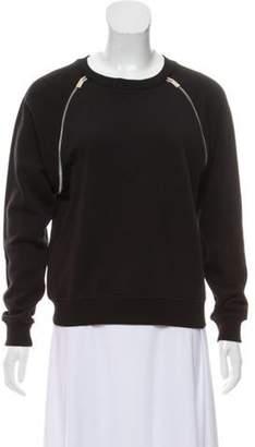Saint Laurent 2012 Zipper-Accented Sweatshirt Black 2012 Zipper-Accented Sweatshirt