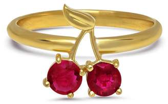 Established Cherry Ruby Ring