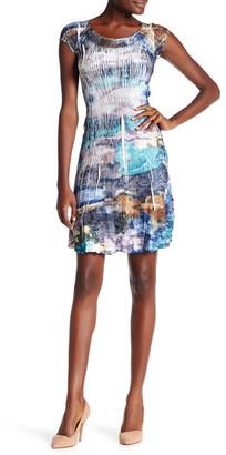 KOMAROV Cap Sleeve Charmeuse Dress $278 thestylecure.com