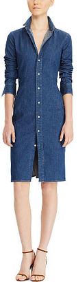 Polo Ralph Lauren Stretch Denim Shirtdress $245 thestylecure.com
