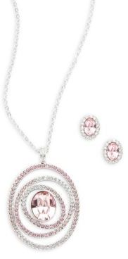 Swarovski Crystal Stud Earrings & Pendant Necklace Set