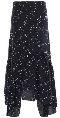 3.1 Phillip Lim Asymmetric Cotton-blend Jacquard Skirt