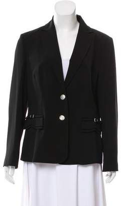 Les Copains Long Sleeve Notch-Lapel Blazer