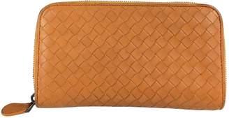 Bottega Veneta Orange Leather Wallets