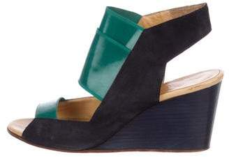 Maison Margiela Suede Wedge Sandals