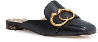 Charlotte Olympia Black 20 leather mule flats
