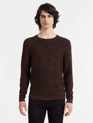 Calvin Klein slim fit herringbone crewneck sweater