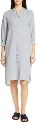 Eileen Fisher Button Down Organic Linen Shirtdress