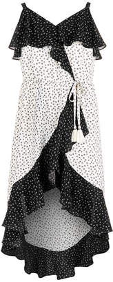 Sequin Hearts Big Girls Ruffle-Trim Wrap Maxi Dress