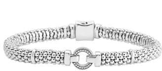 Lagos Enso Boxed Circle Station Caviar Rope Bracelet