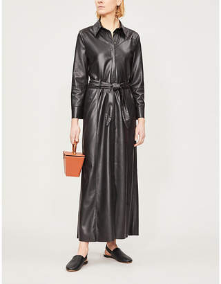 Nanushka Taurus faux-leather maxi dress