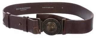 Burberry Leather Buckle Belt