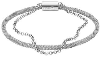Fossil Double-Strand Mesh And Stainless Steel Bracelet jewelry