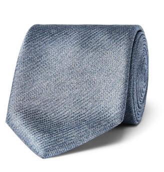 Brioni 8cm Mélange Herringbone Silk Tie