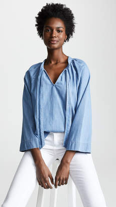 Madewell Tie Neck Top