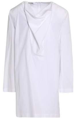 Jil Sander Draped Cotton--Poplin Tunic