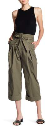 Know One Cares Paperbag Waist Wide Leg Pants