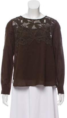 See by Chloe Embroidered Long Sleeve Top w/ Tags