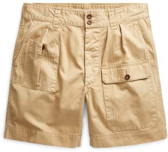 Ralph Lauren Pleated Cotton Twill Short