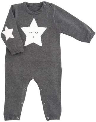 Elegant Baby Charcoal Star Jumpsuit