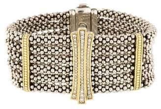 Lagos Diamond Caviar Bracelet silver Diamond Caviar Bracelet