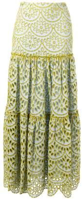 Pinko embroidered maxi skirt