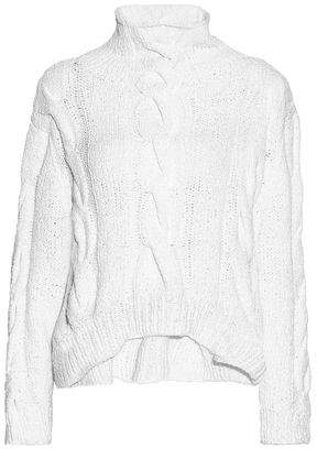 IRO Cable-Knit Pima Cotton Turtleneck Sweater