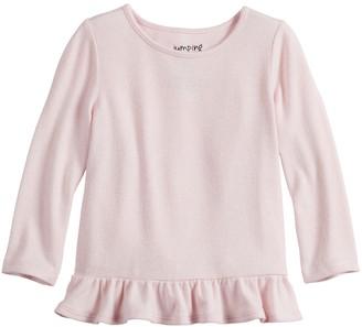 Baby Girl Jumping Beans Cozy Peplum Hem Knit Top