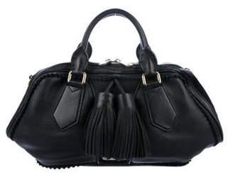 Burberry Large Leather Satchel Black Large Leather Satchel