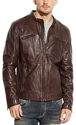 Rogue Men's Leather Café Racer Jacket
